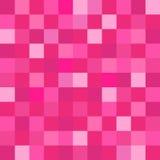 Il rosa quadra il fondo geometrico della carta da parati dei pixel Immagini Stock