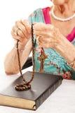 Il rosario Fotografia Stock