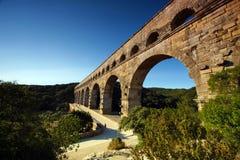 Il Rossiglione, Valchiusa, Francia - vista al Pont du Gard Aqueduct Immagine Stock Libera da Diritti