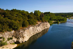 Il Rossiglione, Valchiusa, Francia - vista al Pont du Gard Aqueduct Fotografia Stock Libera da Diritti