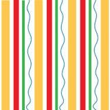 Il rosso arancio verticale barra il modello verde ondulato Fotografia Stock