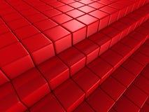 Il rosso cuba il fondo astratto dell'architettura Fotografia Stock