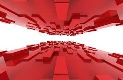 Il rosso cuba il modello astratto del fondo Immagine Stock Libera da Diritti