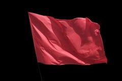 Il rosso della bandiera Immagine Stock