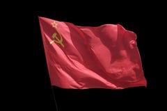 Il rosso della bandiera Immagini Stock