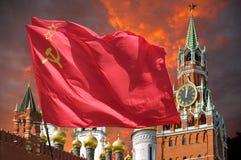 Il rosso della bandiera Fotografie Stock