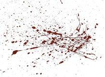 Il rosso della pittura acrilica schizza immagine stock
