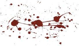 Il rosso della pittura acrilica schizza fotografie stock