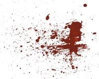 Il rosso della pittura acrilica schizza fotografie stock libere da diritti