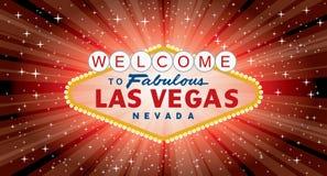 Il rosso di Vegas ha scoppiato largamente royalty illustrazione gratis
