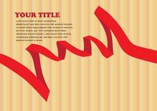 Il rosso di vettore ha colorato la progettazione della disposizione del nastro Immagine Stock