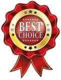 Il rosso e nastro choice dell'oro il migliore badge la guarnizione Illustrazione Vettoriale