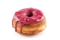 Il rosso fruttifica miscela del croissant e della ciambella del fondente Fotografia Stock Libera da Diritti