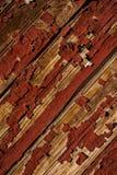 Il rosso ha scheggiato la pittura su struttura di legno - mulino di Newport - Newport, Kentucky fotografie stock libere da diritti