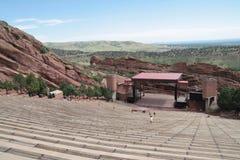 Il rosso oscilla l'anfiteatro, Denver, Colorado Fotografie Stock