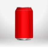 Il rosso può Fotografia Stock Libera da Diritti