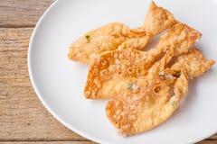 Il roti croccante fritto fa la forma del pesce Fotografia Stock