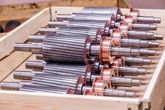 Il rotore del motore elettrico delle azione Fotografie Stock
