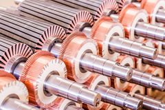 Il rotore del motore elettrico delle azione Fotografia Stock