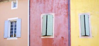 Il Roussillon Façade Fotografia Stock