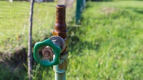 Il rubinetto fuori innaffia Immagine Stock Libera da Diritti