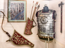Il Russo arma la cavalleria locale del guerriero - l'inizio del XVII secolo Immagine Stock