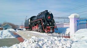 Il Russo si buca la locomotiva L-4305 del trasporto Kamensk-Uralsky, Russia Fotografie Stock Libere da Diritti