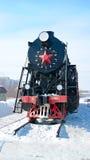 Il Russo si buca la locomotiva L-4305 del trasporto Kamensk-Uralsky, Russia Immagine Stock