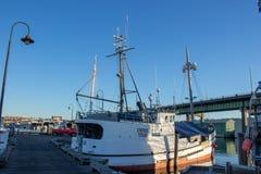 Il ` s del Longliner ha attraccato al terminale del ` s del pescatore a Seattle Washington immagine stock