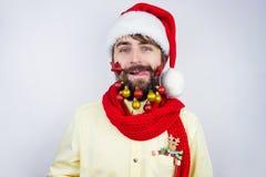Il ` s di Santa ha decorato la barba Fotografia Stock Libera da Diritti