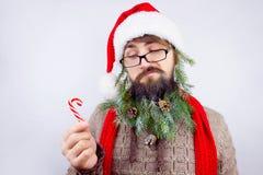 Il ` s di Santa ha decorato la barba Immagine Stock Libera da Diritti