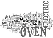 Il S seulement Oven Word Cloud Concept Photos libres de droits