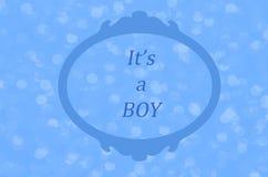 Il ` s un garçon, annonce de naissance de bébé garçon illustration stock