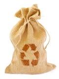 Il sacchetto con ricicla il segno Fotografia Stock Libera da Diritti
