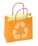 Il sacchetto di acquisto con ricicla il simbolo Fotografie Stock