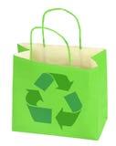 Il sacchetto di acquisto con ricicla il simbolo Fotografia Stock Libera da Diritti