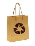 Il sacchetto di mano vuoto da ricicla il documento Immagine Stock