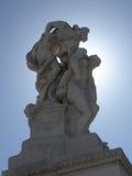 Il sacrificio (牺牲)由Leonardo Bistolfi,罗马,意大利 免版税库存图片
