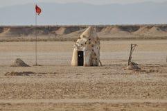 Il Sahara del nord, capanna sul deserto Immagini Stock Libere da Diritti