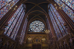 Il Sainte-Chapelle a Parigi, Francia fotografia stock libera da diritti