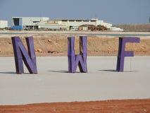 Il sal funziona con il logo di nord-ovest di festival che introduce indebitamente sulla pentola del sale fotografie stock libere da diritti