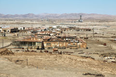 Il salnitro storico di Humberstone funziona nel deserto di Atacama Immagini Stock Libere da Diritti