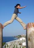 Il salto Fotografia Stock