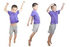 Il salto dei bambini Fotografie Stock Libere da Diritti