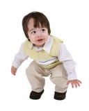 Il salto del bambino Fotografia Stock