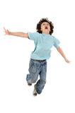 Il salto del bambino Immagine Stock