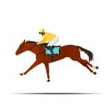 Il salto del concorso ippico, conosciuto come il salto di stadio, il salto aperto o i saltatori, gli eventi equestri di guida ing Immagine Stock