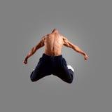 Il salto del danzatore Fotografie Stock