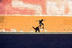 il salto del pattinatore Fotografia Stock Libera da Diritti