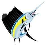 Il salto del pesce vela del Pacifico illustrazione vettoriale